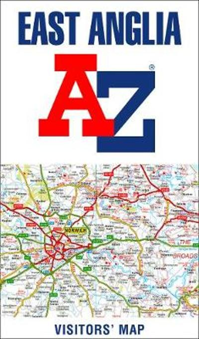 East Anglia A-Z Visitors' Map - A-Z maps