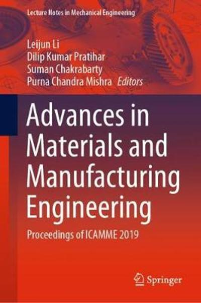Advances in Materials and Manufacturing Engineering - Leijun Li