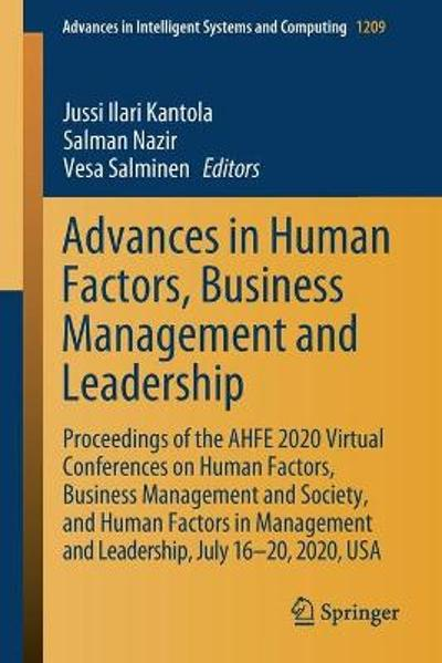 Advances in Human Factors, Business Management and Leadership - Jussi Ilari Kantola