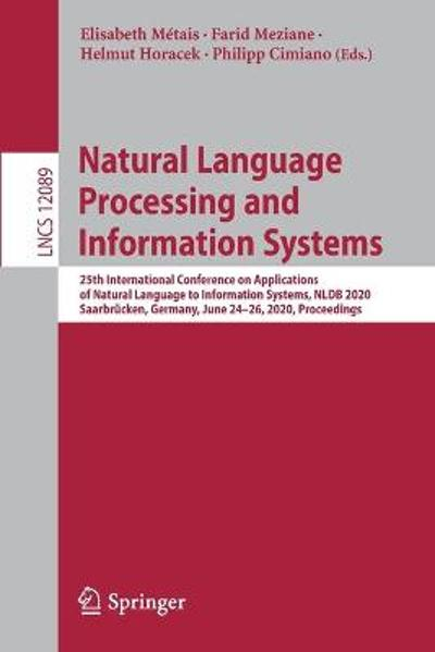 Natural Language Processing and Information Systems - Elisabeth Metais