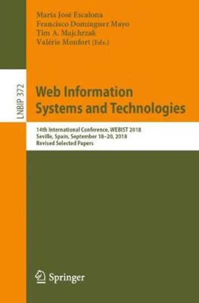 Web Information Systems and Technologies - Maria Jose Escalona