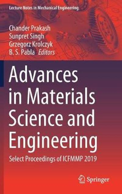Advances in Materials Science and Engineering - Chander Prakash
