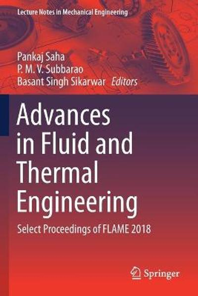 Advances in Fluid and Thermal Engineering - Pankaj Saha