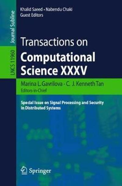 Transactions on Computational Science XXXV - Marina L. Gavrilova