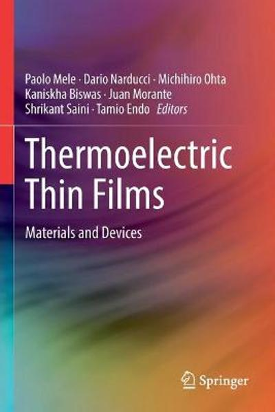 Thermoelectric Thin Films - Paolo Mele