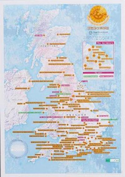 Marathons of the UK and Ireland Collect & Scratch Print -