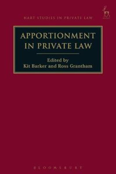 Apportionment in Private Law - Professor Kit Barker