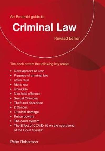 Criminal Law - Peter Robertson