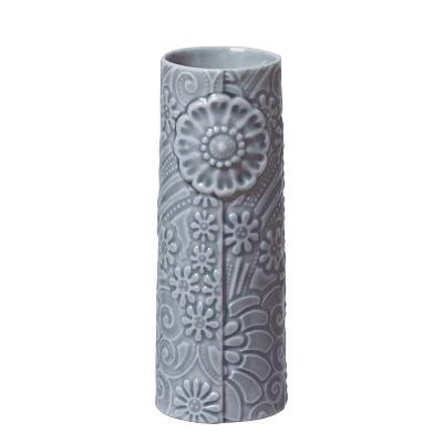 Pipanella vase flower blue grey H9 cm - Dottir