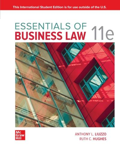 ISE eBook Online Access for Essentials of Business Law 11e - LIUZZO
