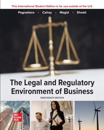 ISE eBook Online Access for The Legal and Regulatory Environment of Business 19e - PAGNATTARO