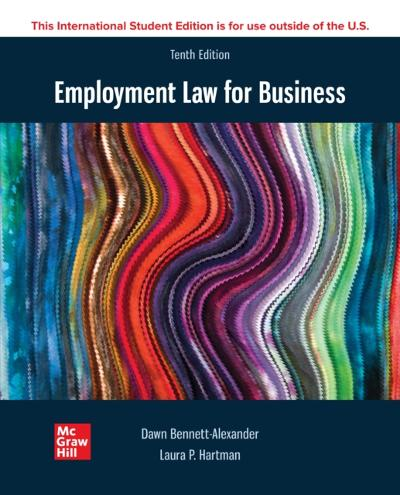 ISE eBook Online Access for Employment Law for Business 10e - BENNETT-ALEXANDER