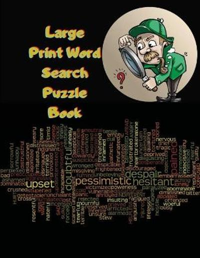Large Print Word Search Puzzle Book - Mellow Maxim