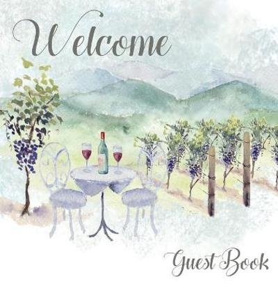 Vineyard themed Guest Book, vacation home, comments book, holiday home, visitor book to sign - Lulu and Bell