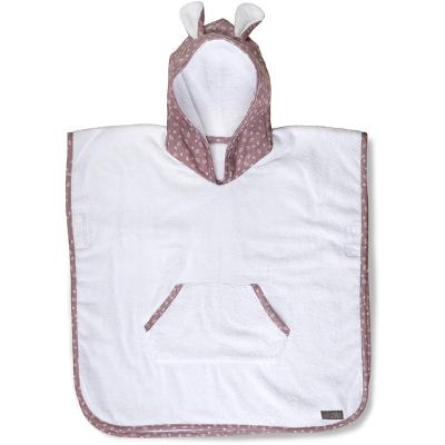 Vinter & Bloom Nordic Leaf Badeponcho Soft Pink - Vinter & Bloom