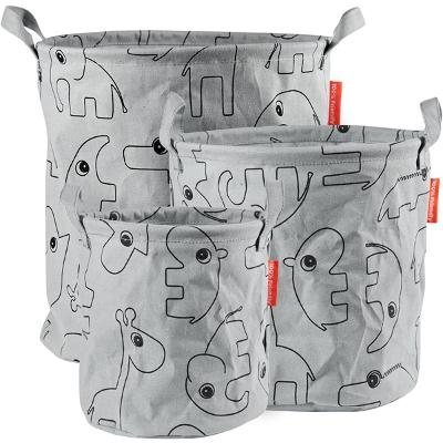 Done By Deer Storage Baskets Contour 3 PCS Grey - Done by Deer