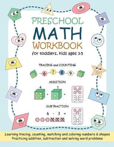 Preschool Math Workbook for Toddlers, Kids Ages 3-5 - Ananya Prechavut