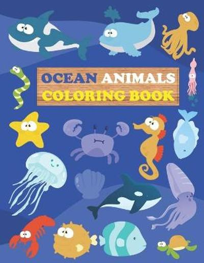 Ocean Animals Coloring Book - Med Ouanini