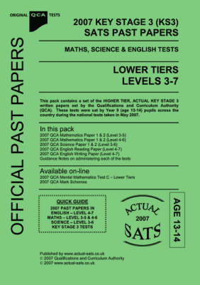 2007 Key Stage 3 (KS3) QCA SATS Past Papers Maths, Science & English Tests -