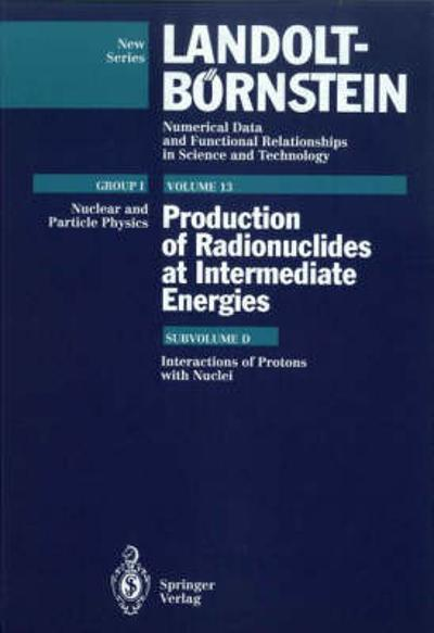 Interactions of Protons with Nuclei (Supplement to I/13a,b,c) - H. Schopper