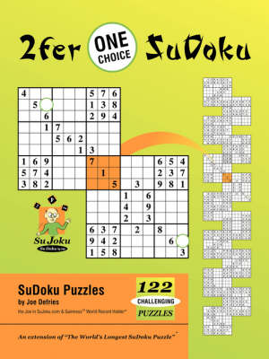 2fer 'One Choice' SuDoku - Joe J Defries