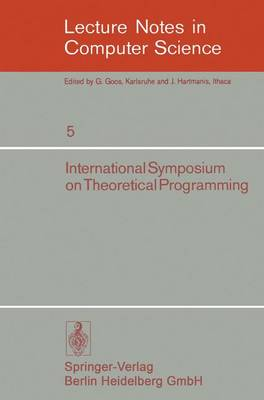 International Symposium on Theoretical Programming - A. Ershov
