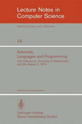 Automata, Languages and Programming - Jacques Loeckx