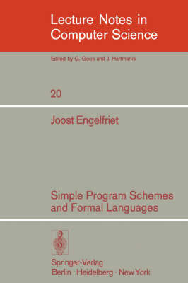 Simple Program Schemes and Formal Languages - J. Engelfriet