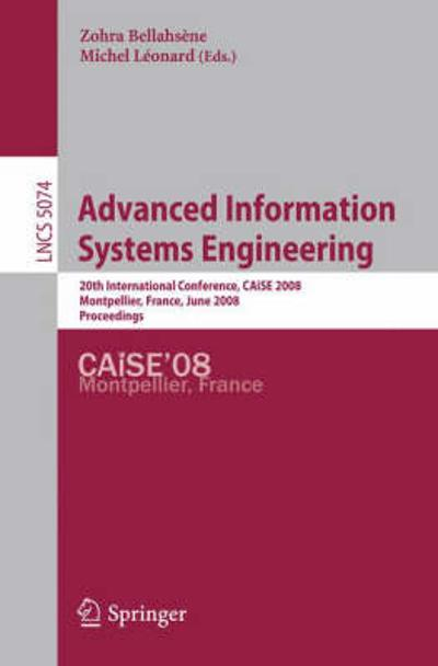 Advanced Information Systems Engineering - Zohra Bellahsene