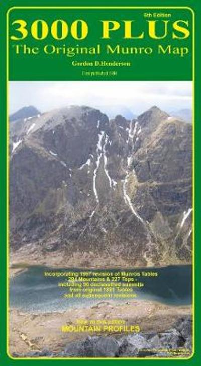 3000 Plus - the Original Munro Map - Gordon D. Henderson