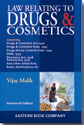 Law Relating to Drugs and Cosmetics - Vijay Malik