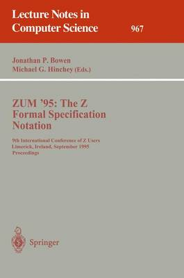 ZUM '95: The Z Formal Specification Notation - Jonathan. P. Bowen