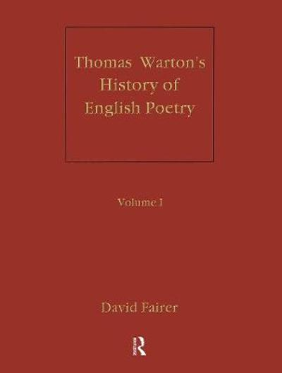 Warton's History of English Poetry - David Fairer