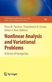 Nonlinear Analysis and Variational Problems - Panos M. Pardalos Themistocles M. Rassias Akhtar A. Khan