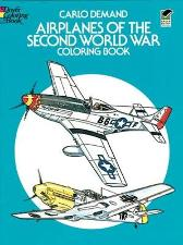 Airplanes of the Second World War Coloring Book - Carlo Demand