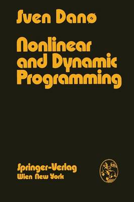 Nonlinear and Dynamic Programming - Sven Dano