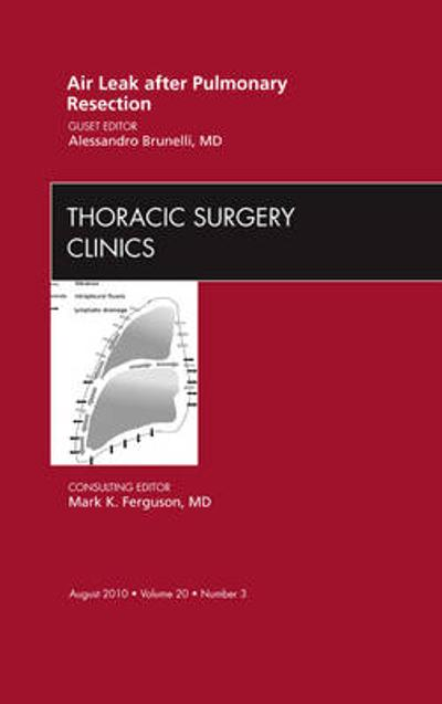 Air Leak after Pulmonary Resection, An Issue of Thoracic Surgery Clinics - Alessandro Brunelli