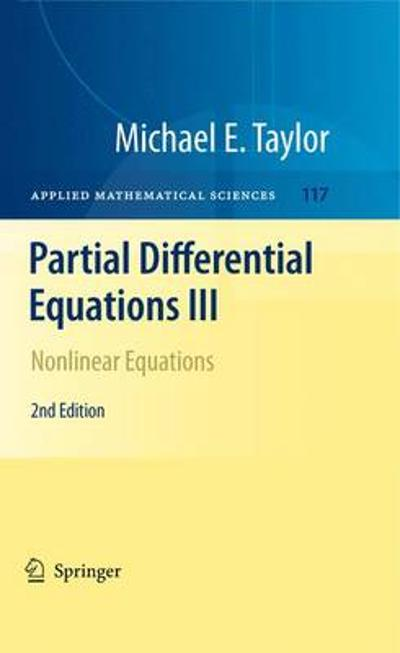Partial Differential Equations III - Michael E. Taylor