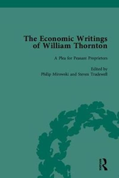 The Economic Writings of William Thornton - Philip Mirowski