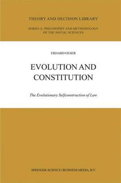 Evolution and Constitution - E.F. Oeser