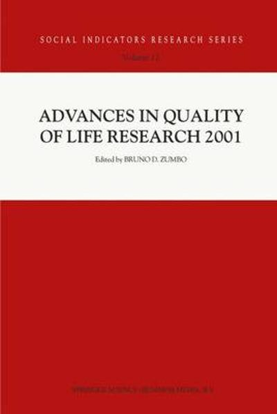 Advances in Quality of Life Research 2001 - Bruno D. Zumbo