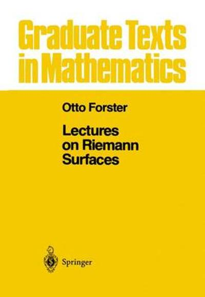 Lectures on Riemann Surfaces - Otto Forster