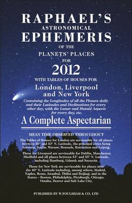 Raphael's Astrological Ephemeris 2012 -