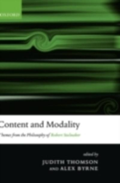 Content and Modality - Judith Thomson