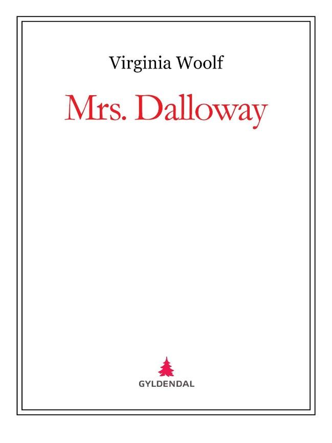 Mrs. Dalloway PDF ePub