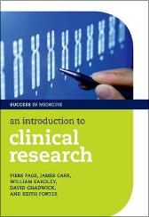 An Introduction to Clinical Research - Piers Page James Carr William Eardley David Chadwick Keith Porter