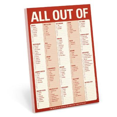 Knock Knock Pads: All Out of Pad - Red -