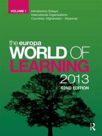 The Europa World of Learning 2013 - Europa Publications