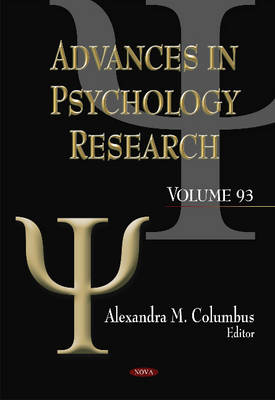 Advances in Psychology Research - Alexandra Columbus