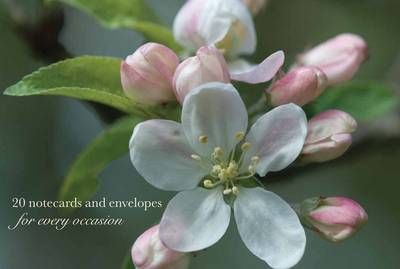 Cardbox of 20 Notecards and Envelopes: Apple Blossom - Peony Press